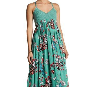 Jessica Simpson Small Crochet Floral Maxi Dress